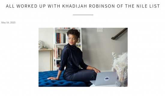 All Worked Up Feature Khadijah Robinson