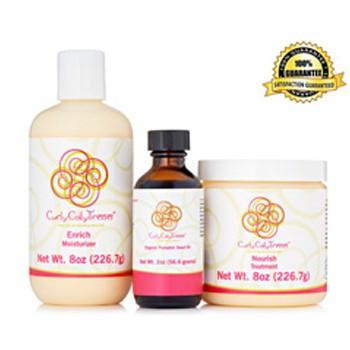 BlackOwnedBusiness CURLYCOILYTRESSES Enrich Moisturizer + Organic Pumpkin Seed Oil + Nourish Treatment
