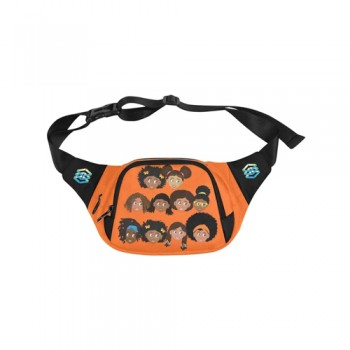 BlackOwnedBusiness EPIC EVERYDAY Orange All Girls Fanny Pack