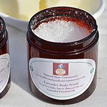BlackOwnedBusiness ALLIES NATURAL HAIR COMMUNITY Lavender Body Scrub