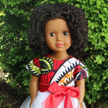 BlackOwnedBusiness IKUZI DOLLS African_american_doll_with_afro_natural_hair_red_dress_x