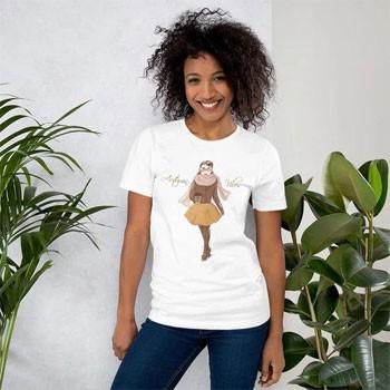 Autumn Vibes Fashion Illustration Short Sleeve Unisex T Shirt