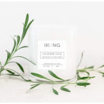 Lavender Sage Soy Candle Live By Being Herbal Plant Rosemary__x
